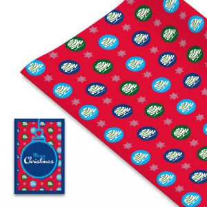 Wrapping Paper and Gift Tag Set (Red design)